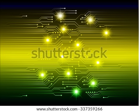 dark blue yellow green Light Abstract Technology background for computer graphic website internet and business. circuit. vector illustration. abstract. infographics. motion move blur.neon. Spark