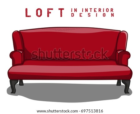 auditorium two red comfortable armchairs cinema stock vector 530619484 shutterstock. Black Bedroom Furniture Sets. Home Design Ideas