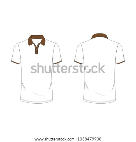 dark brown and white polo t shirt template using for fashion cloth design and assessorie