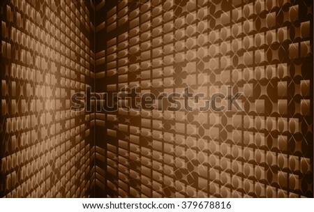 Dark brown color Light Abstract pixels Technology background for computer graphic website internet. circuit board. text box. Mosaic, table
