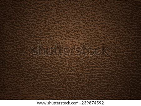 Dark brown leather texture background , Vector EPS 10. - stock vector