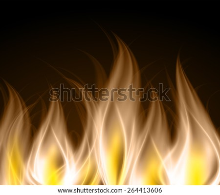 Dark brown yellow Abstract fire background.  - stock vector