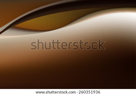 Dark chocolate brown background with soft delicate folds - stock vector