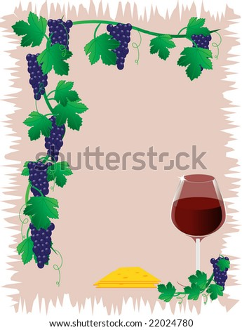 Dark grapes with leafs