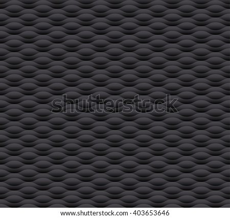 dark gray wave seamless background - stock vector