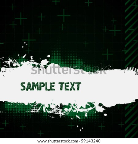 Dark green abstract background - stock vector