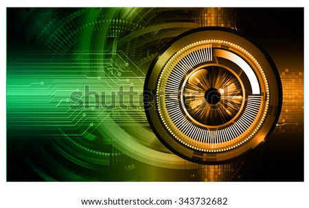 dark green orange eye Light Abstract Technology background for computer graphic website internet and business. circuit. illustration.digital.infographics. binary code. zero one. vector