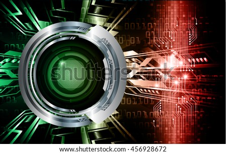 dark green orange silver Light Abstract Technology background for computer graphic website internet and business.circuit.illustration. abstract digital. infographics. motion move blur.neon. eye - stock vector