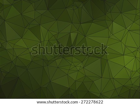 Dark Green polygonal background for your web design - stock vector