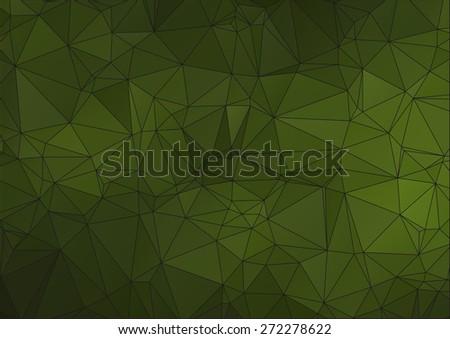 Dark Green polygonal background for your web design - stock vector