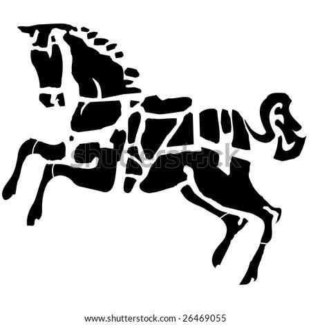 dark horse - stock vector