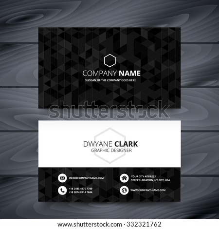 Dark modern business card design template stock vector 332321762 dark modern business card design template reheart Gallery