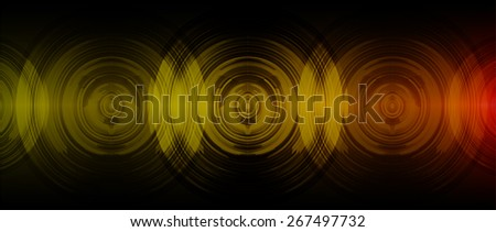 dark orange abstract digital sound wave background. Light Technology background for computer graphic website internet. - stock vector