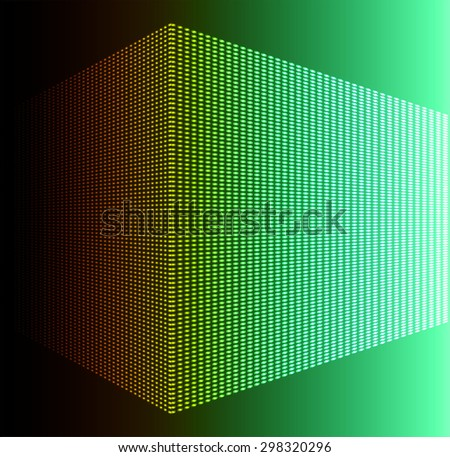 Dark orange green Abstract light lamps background for Technology computer graphic website internet and business.. Screen on stage. Vector illustration. Spot Effect. neon. point. dot - stock vector