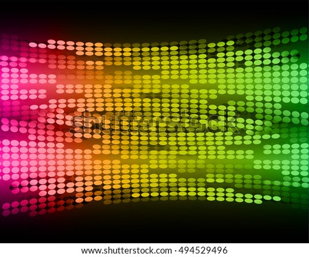 Dark pink green yellow Abstract light lamps background for Technology computer graphic website internet and business. Screen on stage.Vector illustration.Spot Effect. neon.point, platform, Spotlights
