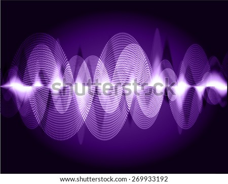dark purple abstract digital sound wave background. Light Technology background for computer graphic website internet. - stock vector
