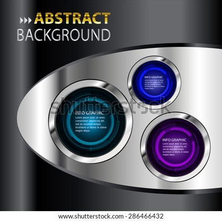 dark purple blue black silver Web Design Website Elements Template for graphic internet. text box. label. info graphics. metal. card. pixel. Metals, alloys, steel, aluminum. button. infographics - stock vector