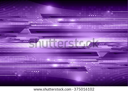 Dark purple color Light Abstract Technology background for computer graphic website internet and business. circuit. vector illustration. infographics. motion move blur.neon. pixel.  - stock vector