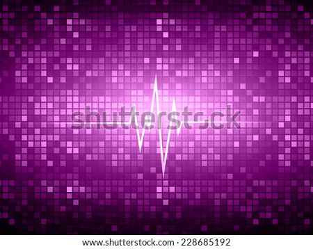 Dark purple color pulse Light Abstract Technology background for computer graphic website and internet. pixels background. - stock vector