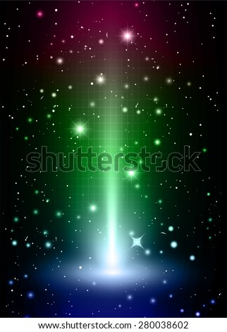 Dark purple green blue light Abstract background, rays. stage. infographics. star. Light Technology background for computer graphic website internet and business. vector illustration - stock vector