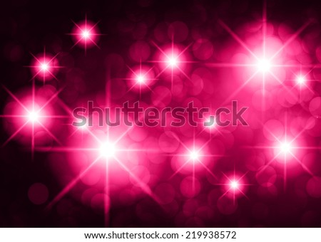 Dark purple yellow sparkling background with stars in the sky and blurry lights, illustration. Abstract, Universe, Galaxies. - stock vector