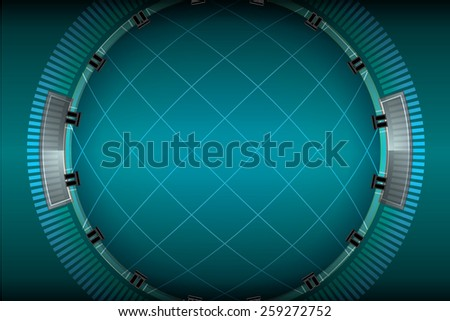 dark radar background vector  - stock vector