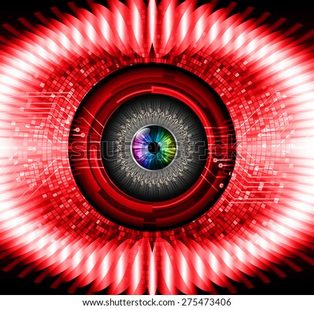 dark red color Light Abstract Technology background for computer graphic website internet and business. circuit. vector illustration. infographics. pixel. mosaic. table.  eye. eyeball.