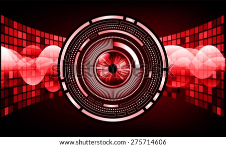 dark red color Light Abstract Technology background for computer graphic website internet and business. circuit. vector illustration. pixel. mosaic. infographics. eye eyeball. - stock vector