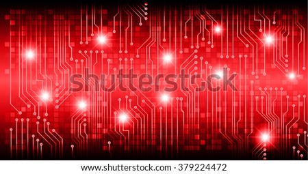 dark red color Light Abstract Technology background for computer graphic website internet and business. circuit. vector illustration. abstract. infographics. motion move blur.neon. Spark pixel - stock vector