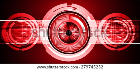 Dark red color Light Abstract Technology background for computer graphic website internet. circuit. eye. eyeball. infographics.