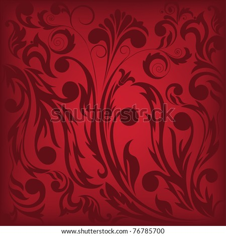 dark red floral background, which can be used as seamless