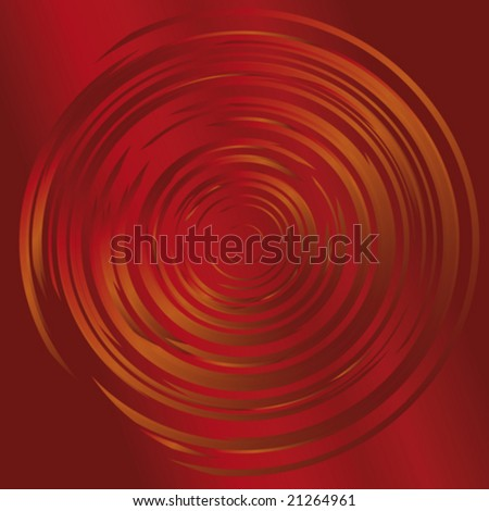 Dark red swirl background with gold circle