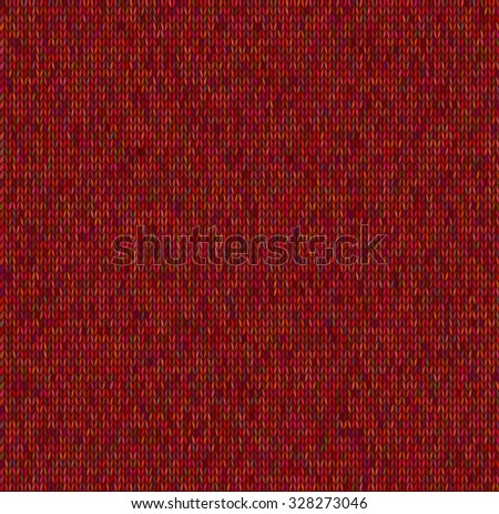 dark red textile knitted texture - stock vector