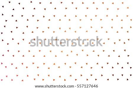 Dark Red vector of small triangles on white background. Illustration of abstract texture of triangles. Pattern design for banner, poster, cover.