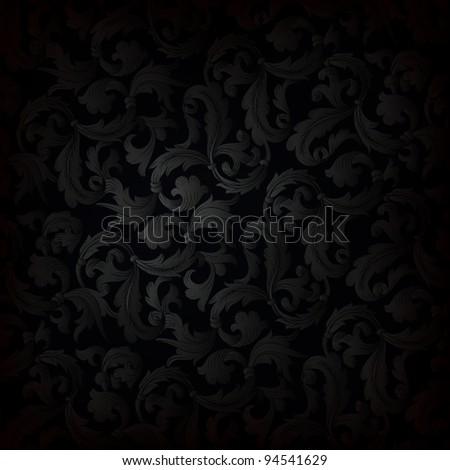 Dark retro wallpaper background - stock vector