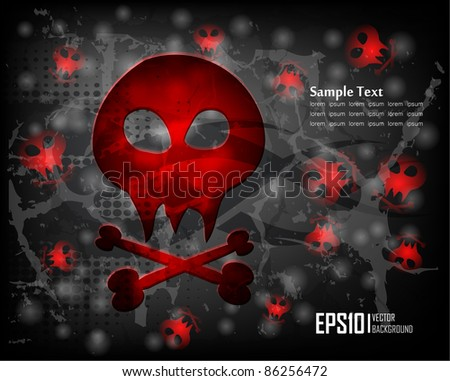 dark scary abstract halloween background. Vector illustration - stock vector
