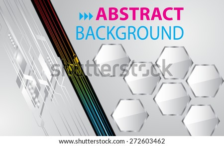 dark silver color Light Abstract Technology background computer graphic website internet and business. circuit. vector illustration. text box. Brochure. card. banner flyer magazine. Design label. - stock vector