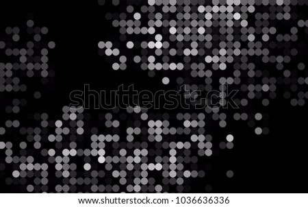 Dark Silver, Gray vector abstract pattern with circles. Geometry template for your business design. Background with colored spheres.