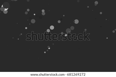 Dark Silver, Gray vector banner with circles, spheres. Abstract spots. Background of Art bubbles in halftone style with colored gradient.