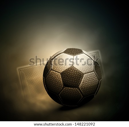 Dark soccer background. Illustration contains transparency and blending effects, eps 10 - stock vector