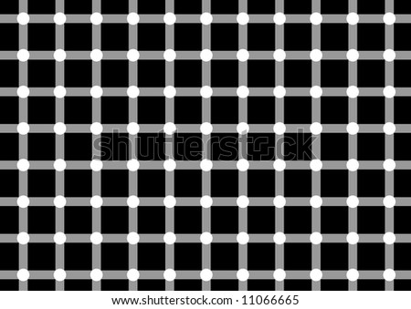 Dark spots seem to appear and disappear very quickly at the intersections. - stock vector