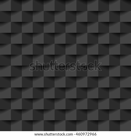 Dark square with shadow abstract background, stock vector