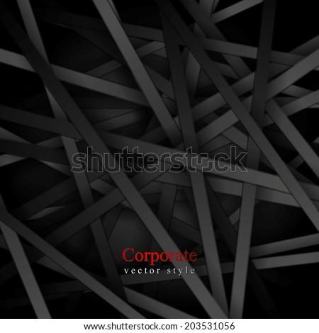 Dark striped tech background. Vector background - stock vector