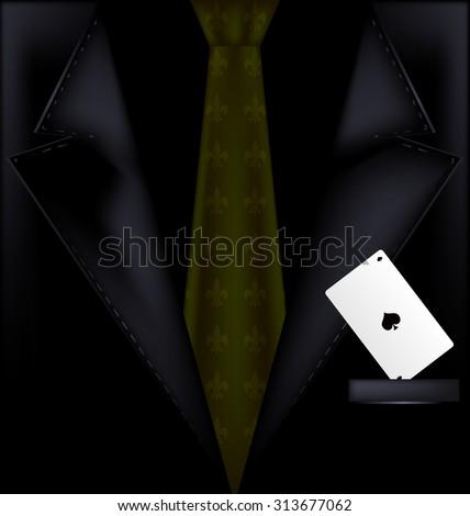 dark suit - stock vector