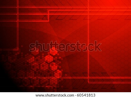 Dark tech background - eps 10 vector illustration - stock vector