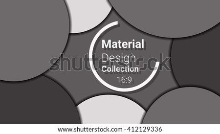 dark template for presentation in 16:9 format. vector illustration. designed for business background, education, web, brochure. abstract creative concept layout template in grey, black colors. - stock vector