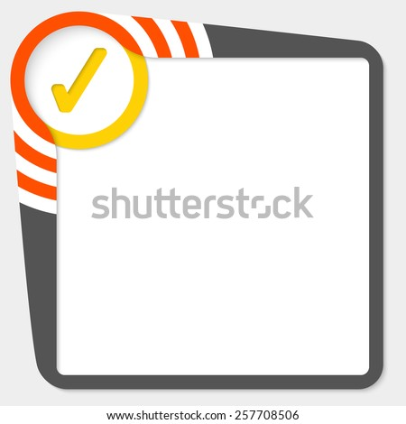 dark text box with yellow check box - stock vector