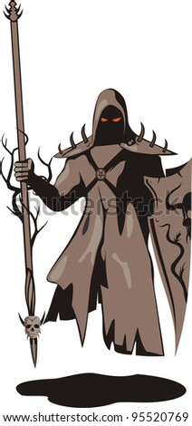 Dark warrior - stock vector