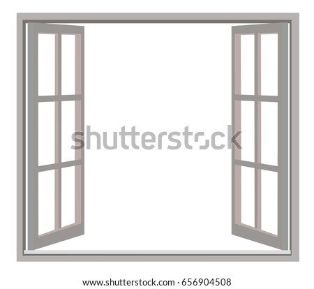 Dark Windows Opening On White Background Stock Vector HD (Royalty ...