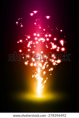 Dark yellow pink light Abstract background, rays. stage. infographics. infographics. star
